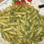 Recipe 4.1:  Penne with Lemon, Walnut, and Basil Pesto