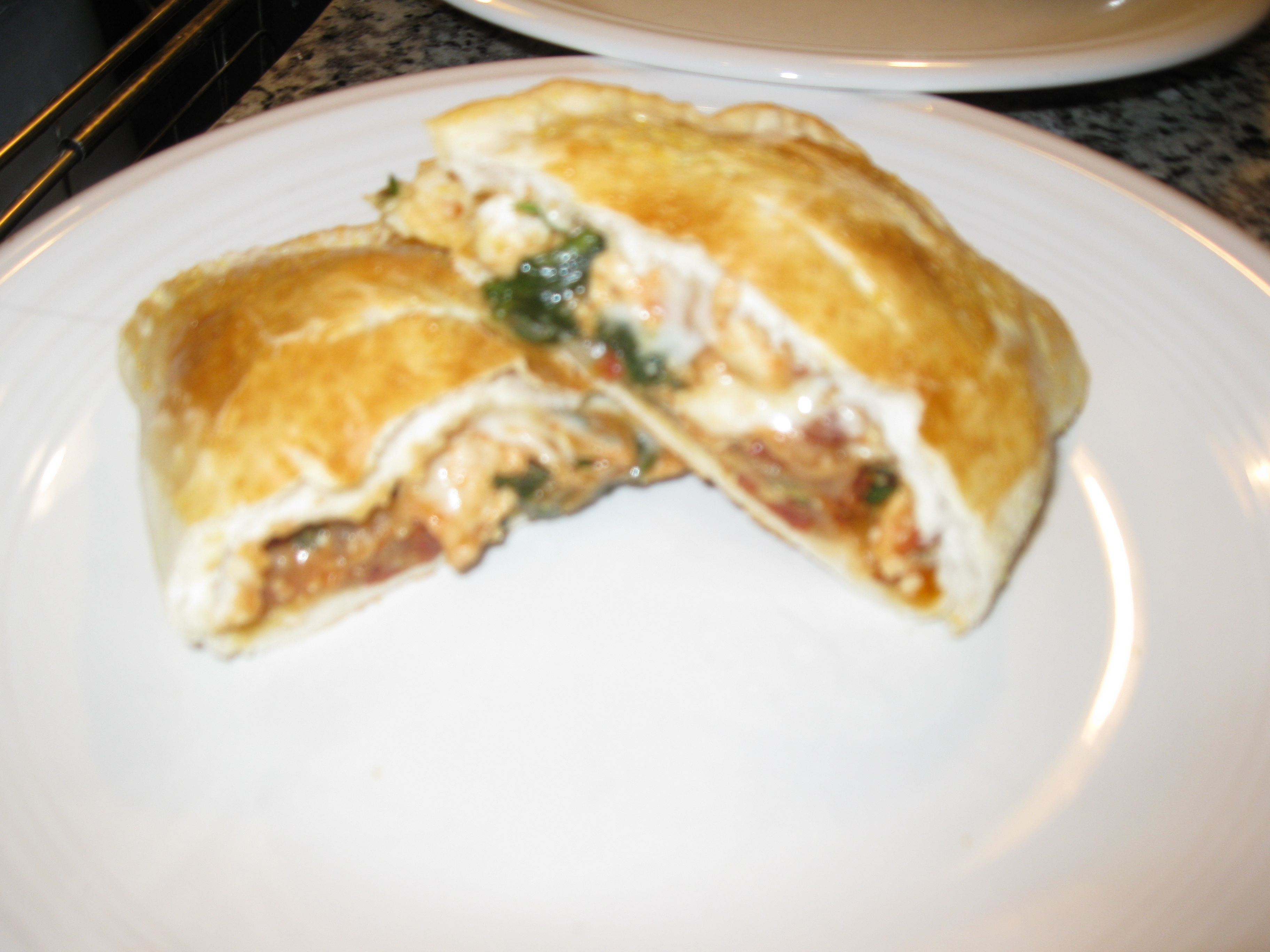 Recipe 10.4: Chicken, Spinach, and Sun-Dried Tomato Calzones