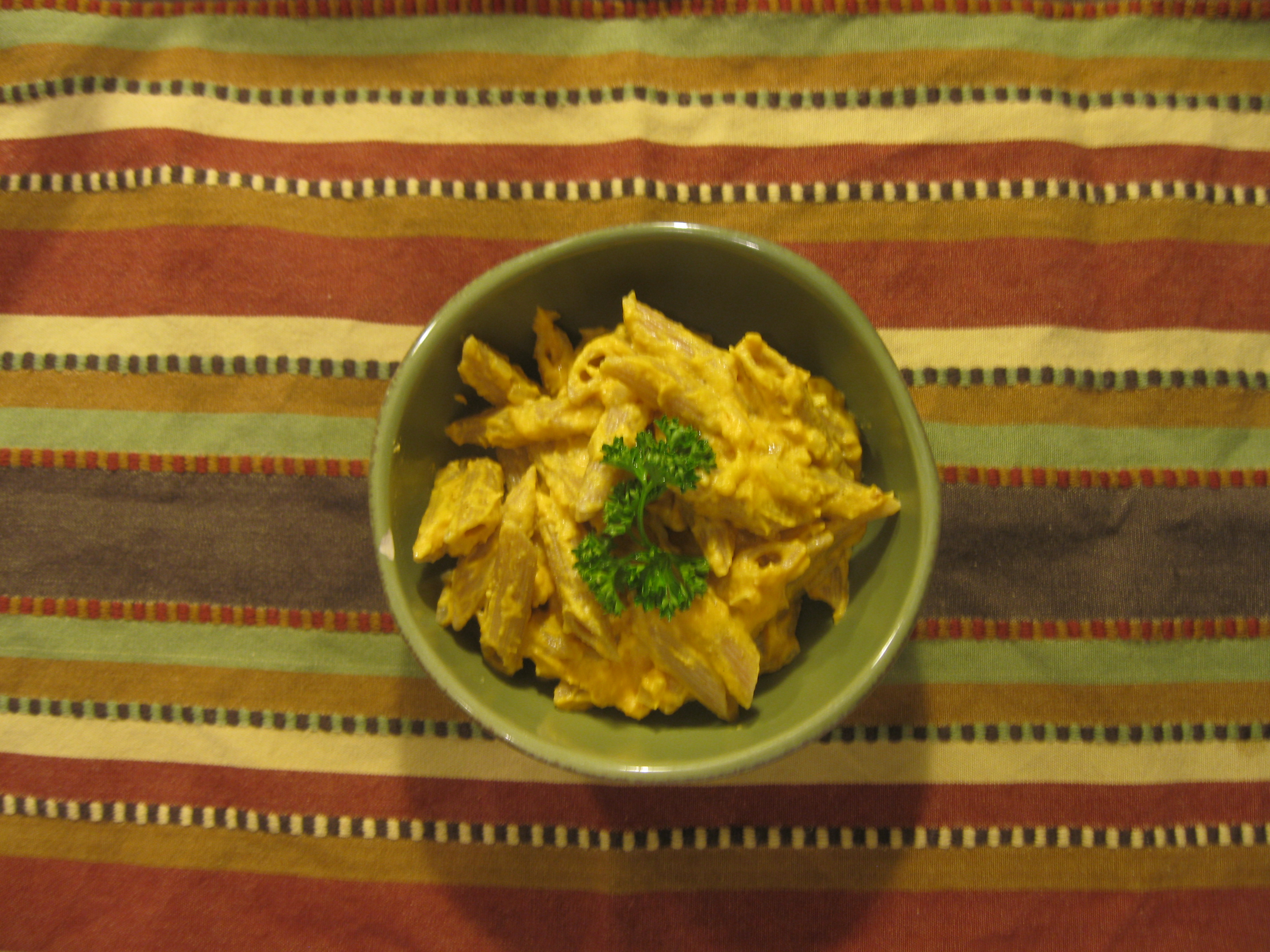 Recipe 12.2: Penne with Pumpkin Cream Sauce