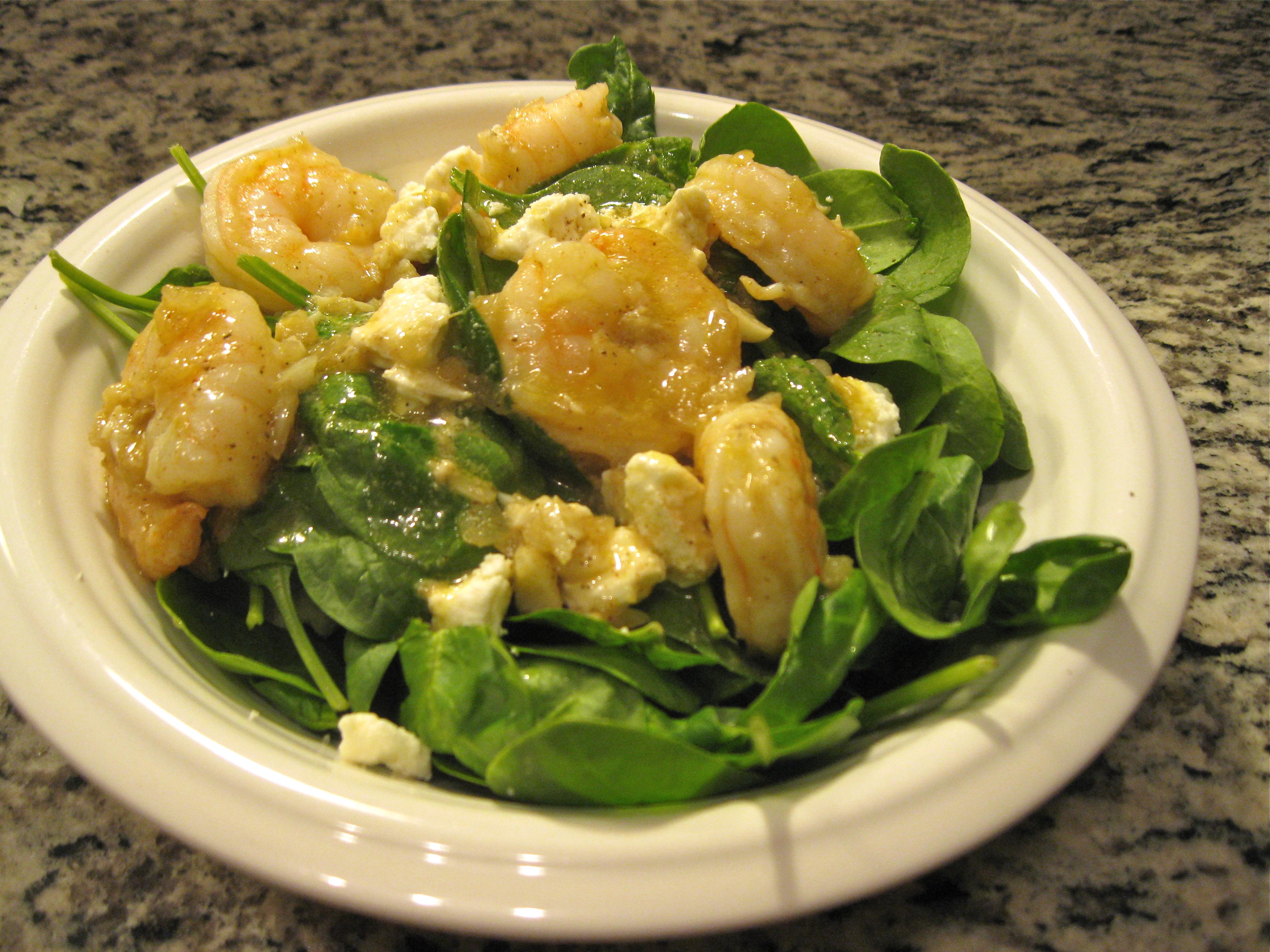 Recipe 17.3: Warm Shrimp and Spinach Salad