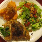 Recipe 16.1: Stuffed Chicken Breasts with Mashed Sweet Potatoes