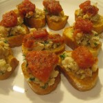Recipe 22.2: Crostini with White Bean Puree and Diced Tomatoes