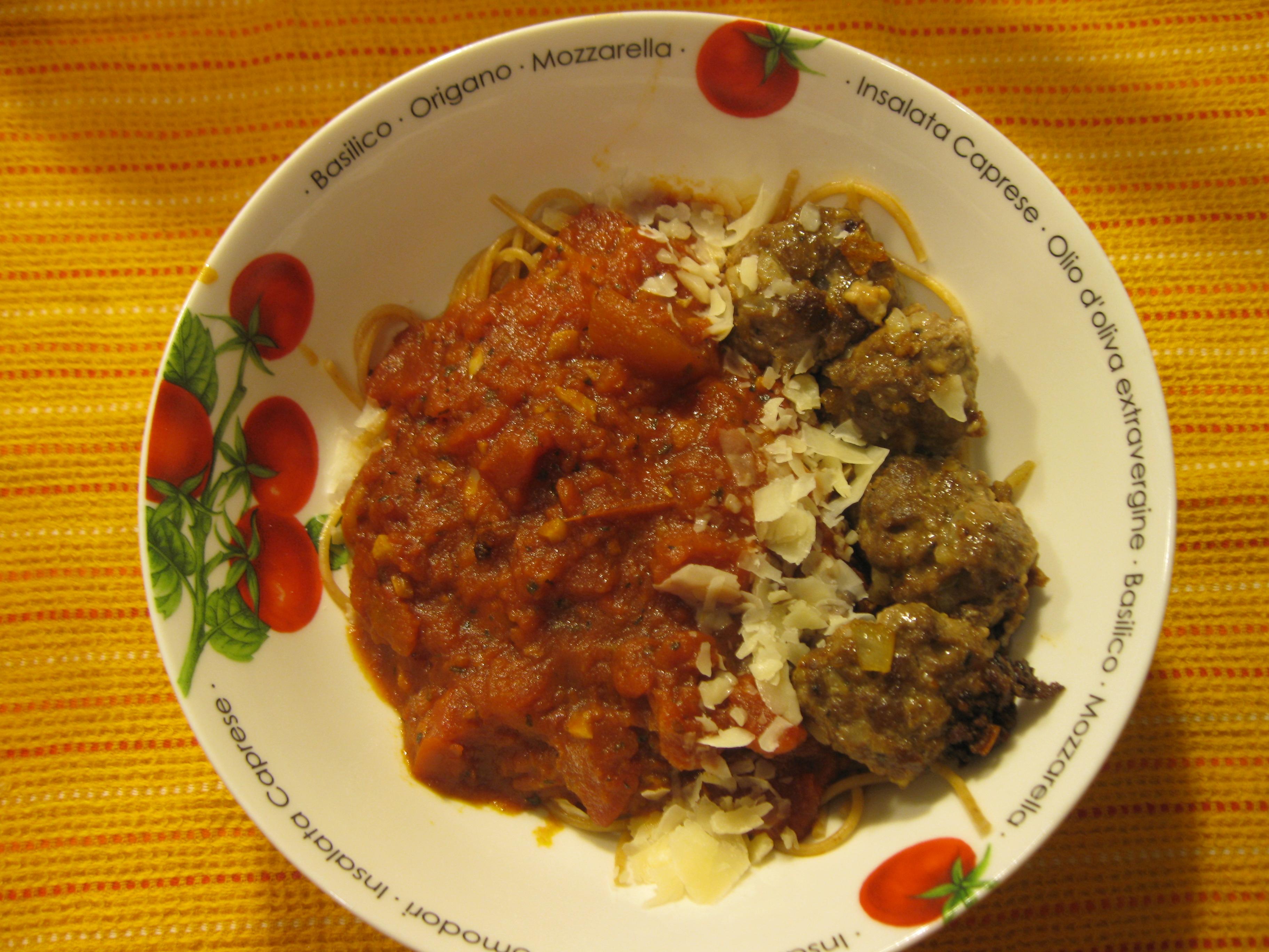 Recipe 23.1: Spaghetti and Meatballs