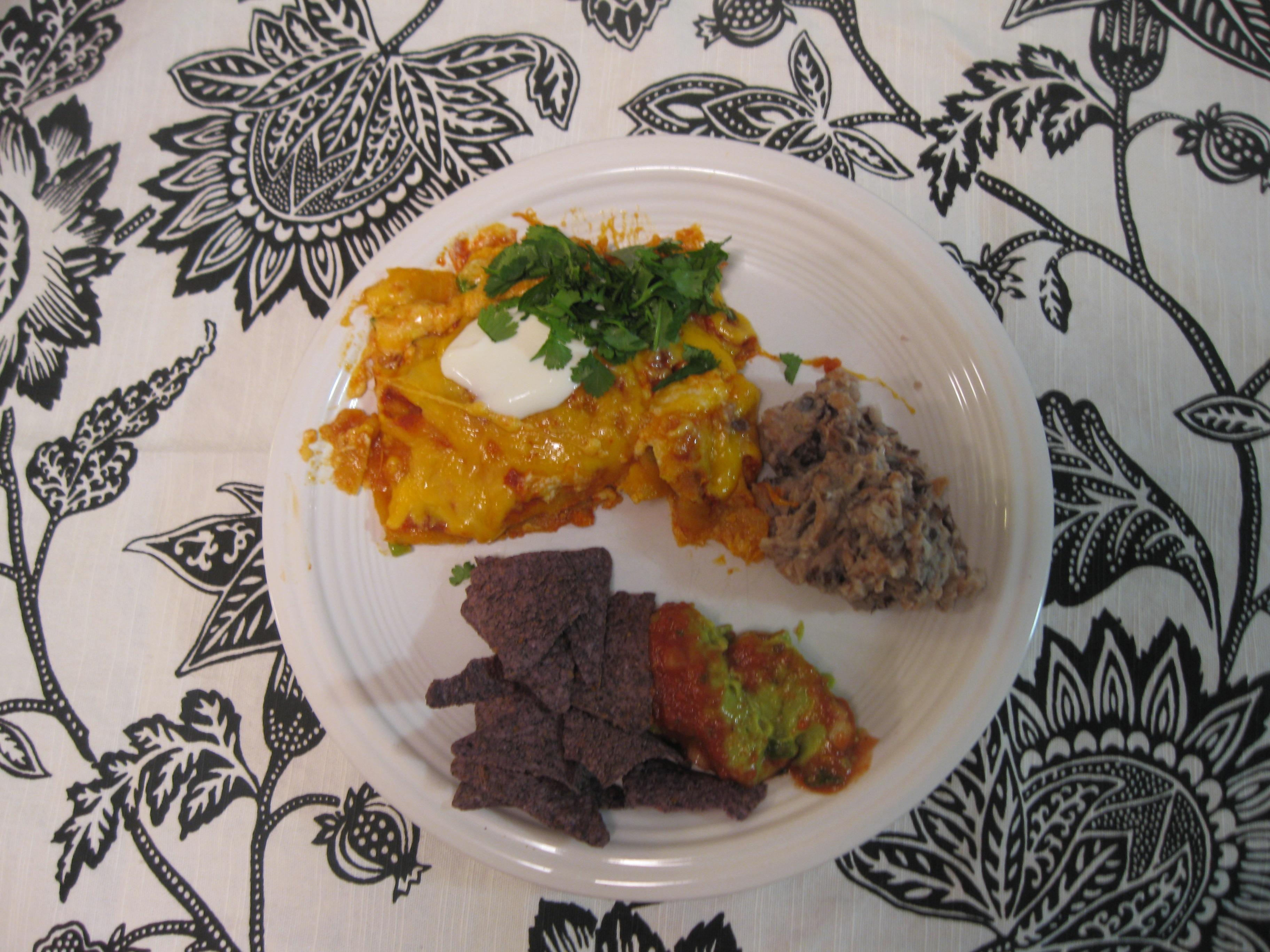 Recipe 23.2: Cheese Enchiladas with Beans