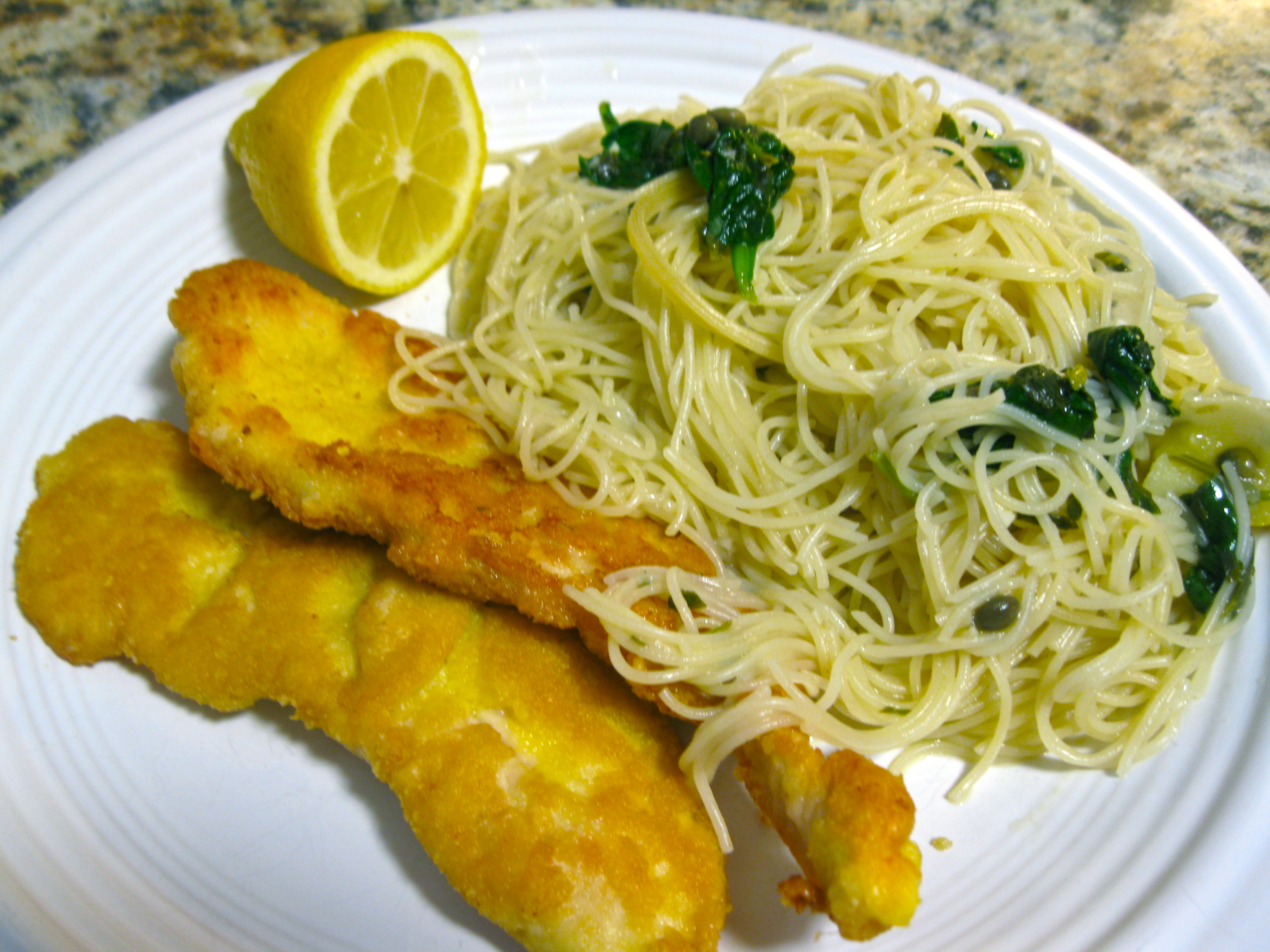 29.2: Parmesan-crusted Chicken with Lemon Spinach Angel Hair